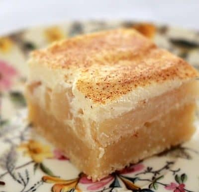 Apple & Sour Cream Slice (classic recipe)