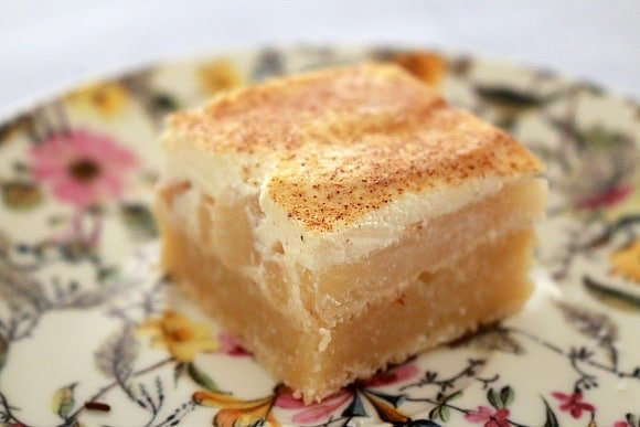 Apple & Sour Cream Slice