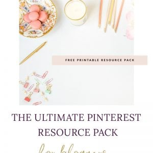 Get access to all of my Blogger Pinterest Resources for free!! Packed full of tips and tricks to increase your Pinterest traffic referrals.
