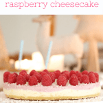 The most deliciously simple No Bake White Chocolate & Raspberry Cheesecake... this really is THE Christmas dessert you need in your life!