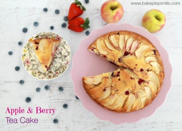 Apple & Berry Tea Cake - Bake Play Smile