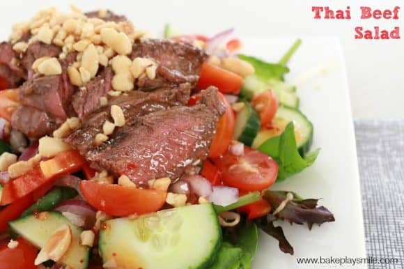 thai beef salad feature