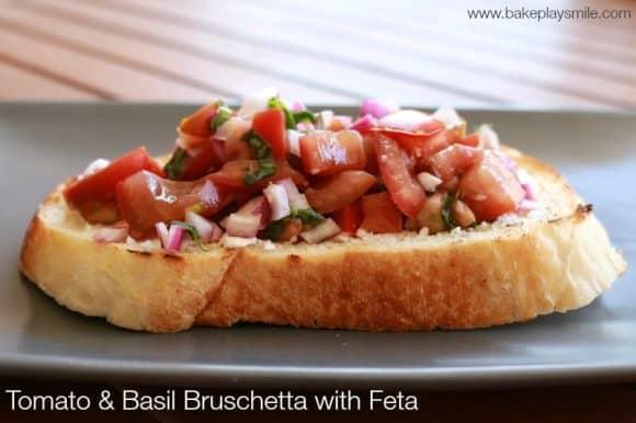 Tomato & Basil Bruschetta with Feta