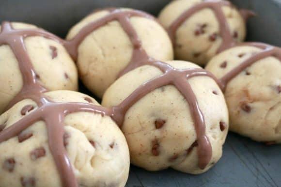 Chocolate Chip Hot Cross Buns 2
