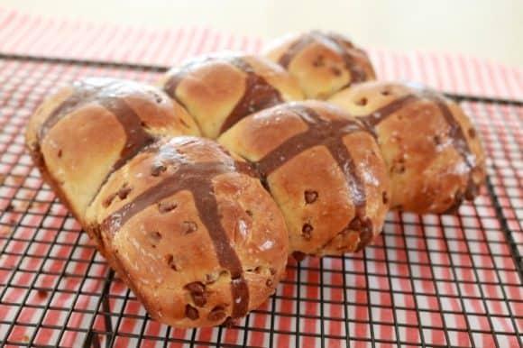Chocolate Chip Hot Cross Buns 3