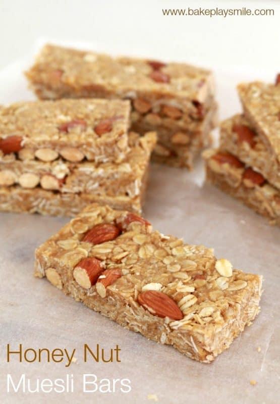 Honey Nut Muesli Bars Feature