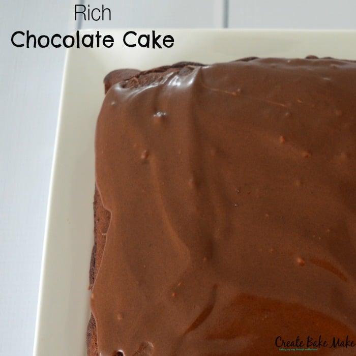 Rich Chocolate Cake - Bake Play Smile