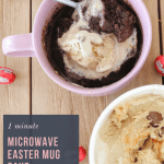Get your chocolate fix with this delicious single serve 1 Minute Milo & Malteser Easter Egg Mug Cake! The perfect late night treat!
