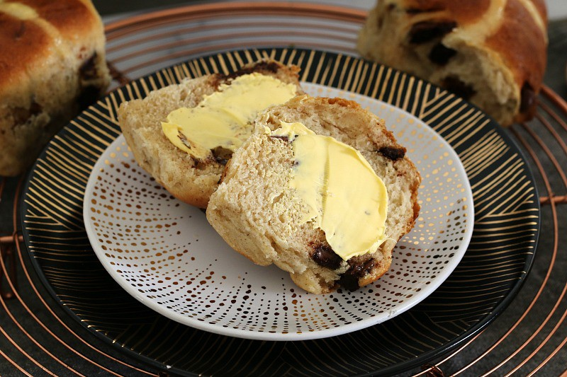 Chocolate Chip Hot Cross Buns Image