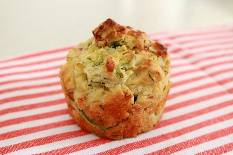 Healthy Zucchini & Ham Muffins