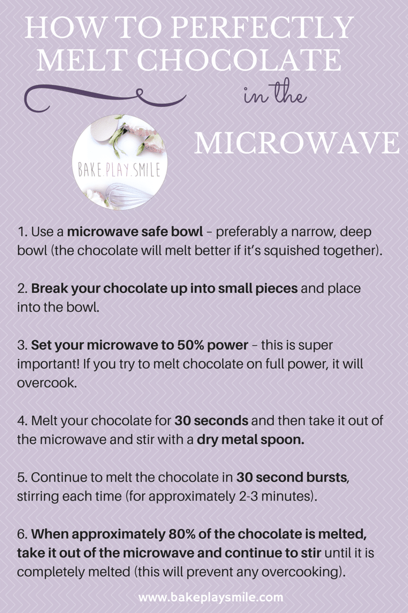 How to perfectly melt chocolate in the microwave