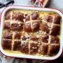 Nutella Hot Cross Bun Bread Pudding