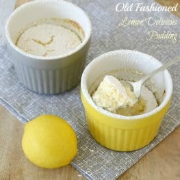Old Fashioned Lemon Delicious Pudding