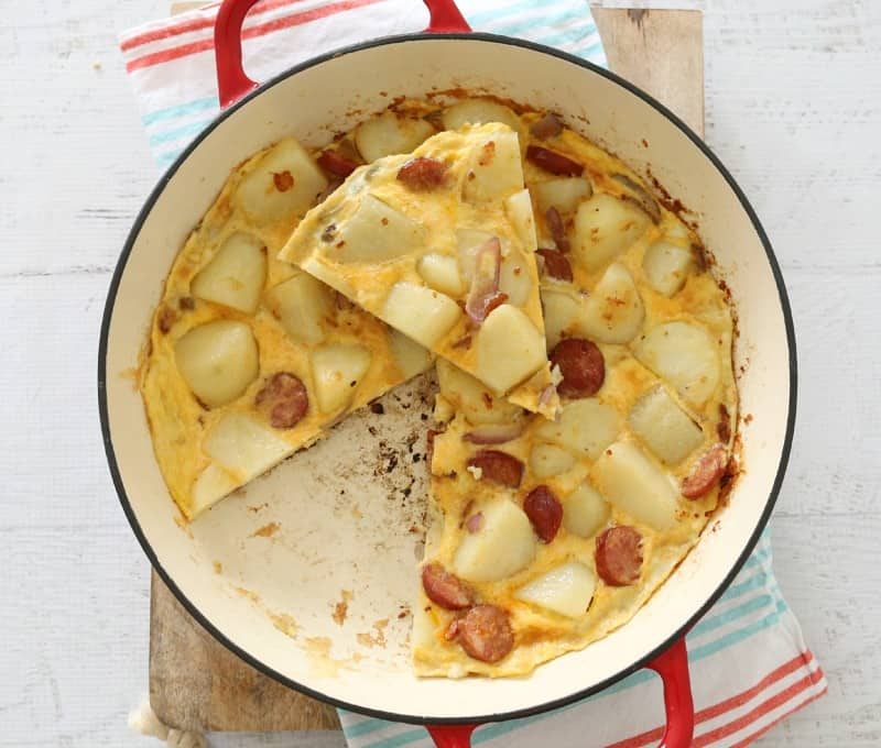 4 Ingredient Chorizo & Potato Spanish Tortilla