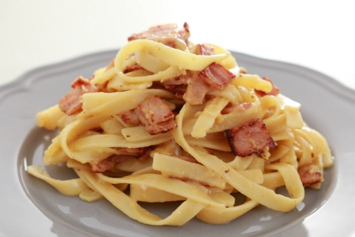 Easy Fettuccine Carbonara