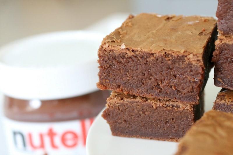 Chocolate Nutella Brownies
