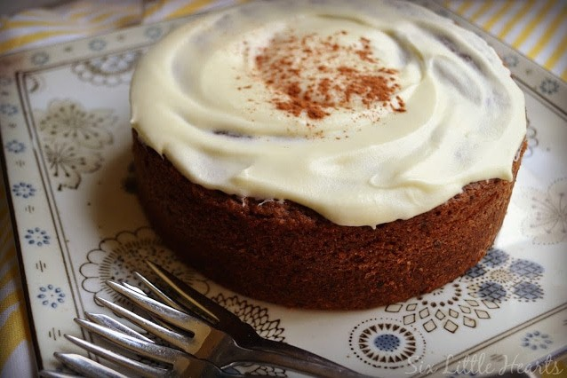 Apple date walnut cake