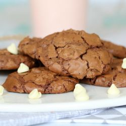 Chewy & Fudgy Double Chocolate Brownie Cookies