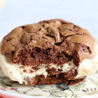 Peanut & Chocolate Ice Cream Sandwiches