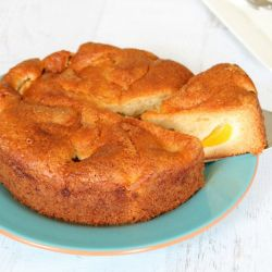 One Bowl Peach and Yoghurt Cake