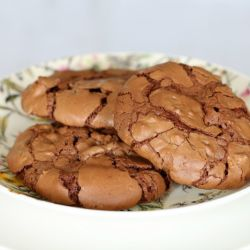 Chewy Peanut & Chocolate Brownie Cookies
