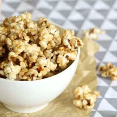 Salted Caramel Popcorn | Quick and Easy