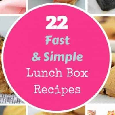 22 Fast & Simple Lunch Box Recipes (kid-approved!)