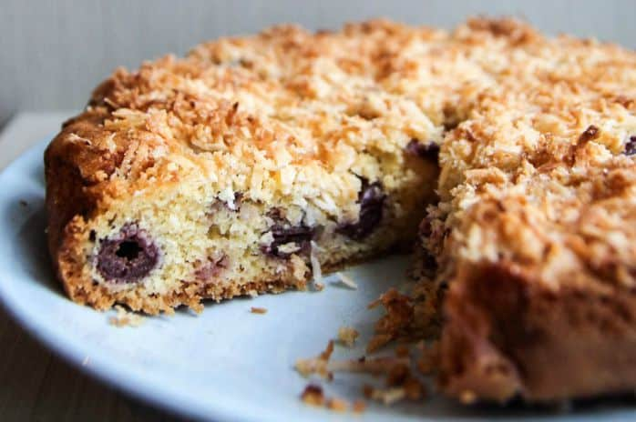 cherry coconut cake