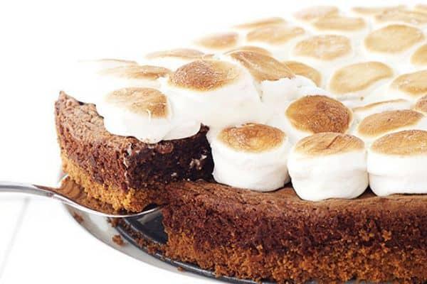 Brownie Smores Pie