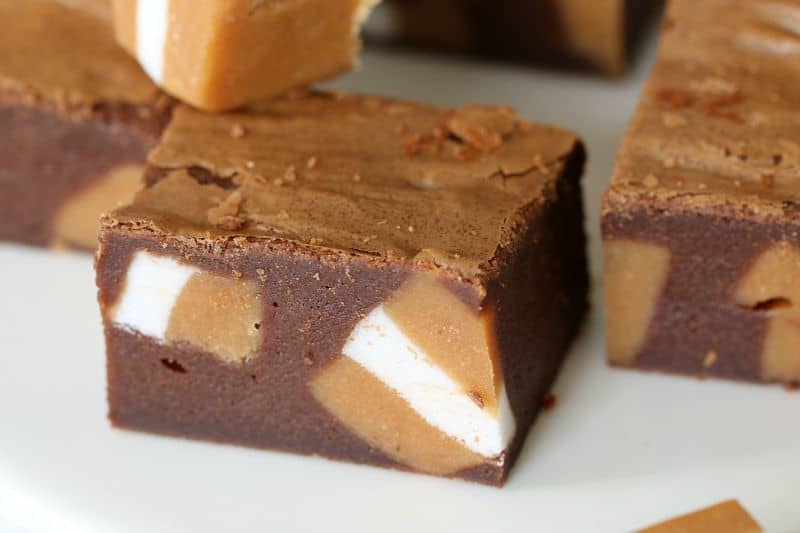 Nutella & Jersey Caramel Brownies