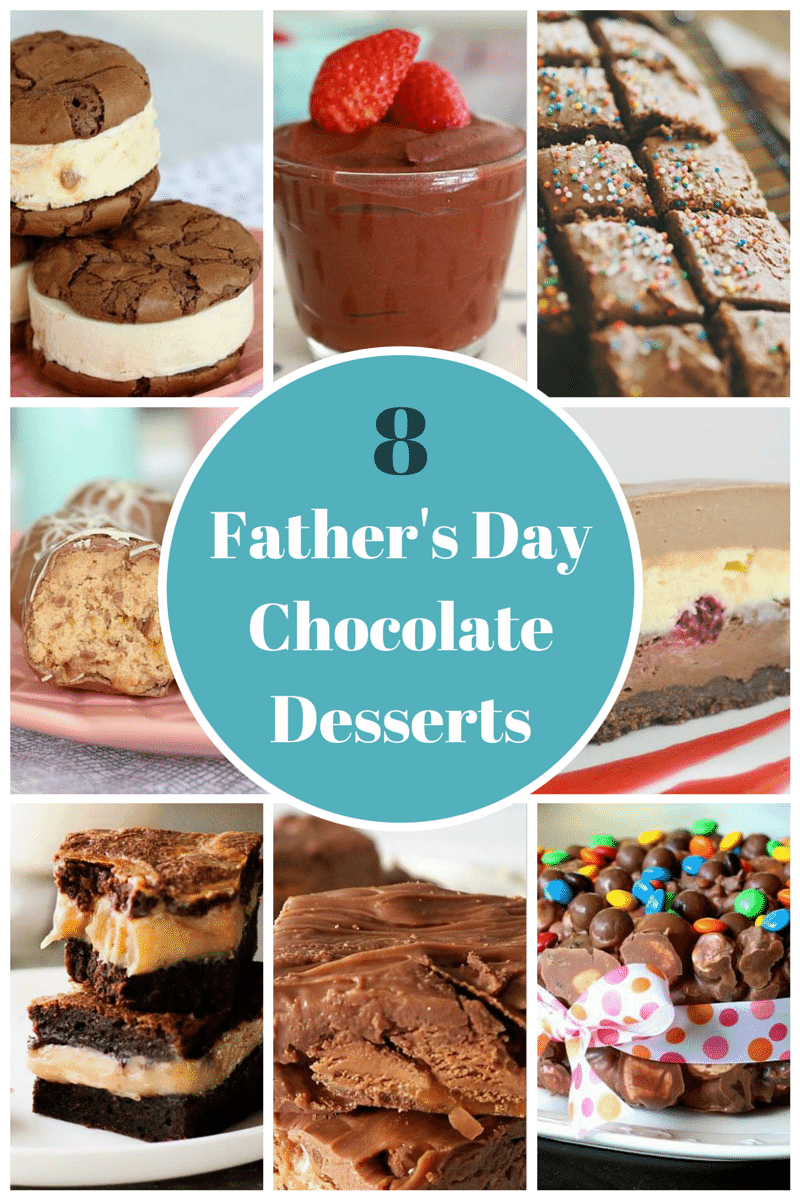 Father's Day Chocolate Desserts