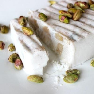 Creamy Coconut, Spiced Apple and Pistachio Ice-Cream
