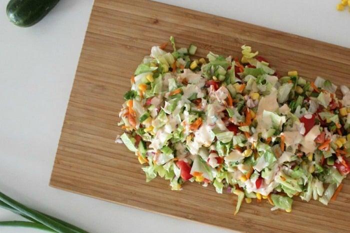 Sweet Chilli May Chopped Salad