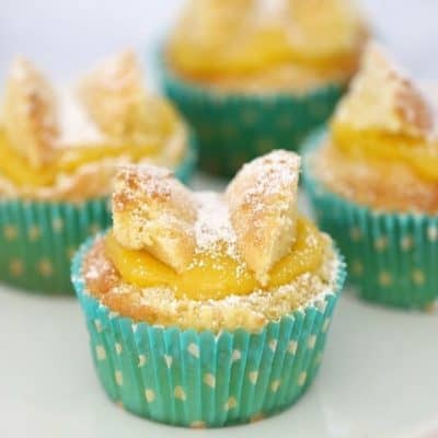 Lemon Curd Butterfly Cakes