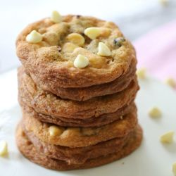 Soft & Chewy White Chocolate & Cranberry Cookies