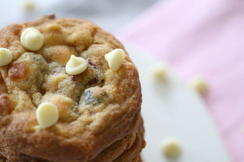 White Chocolate & Cranberry Cookies