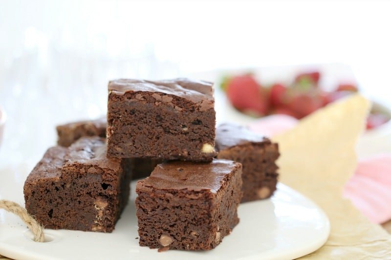 Melt & Mix Triple Chocolate Brownies