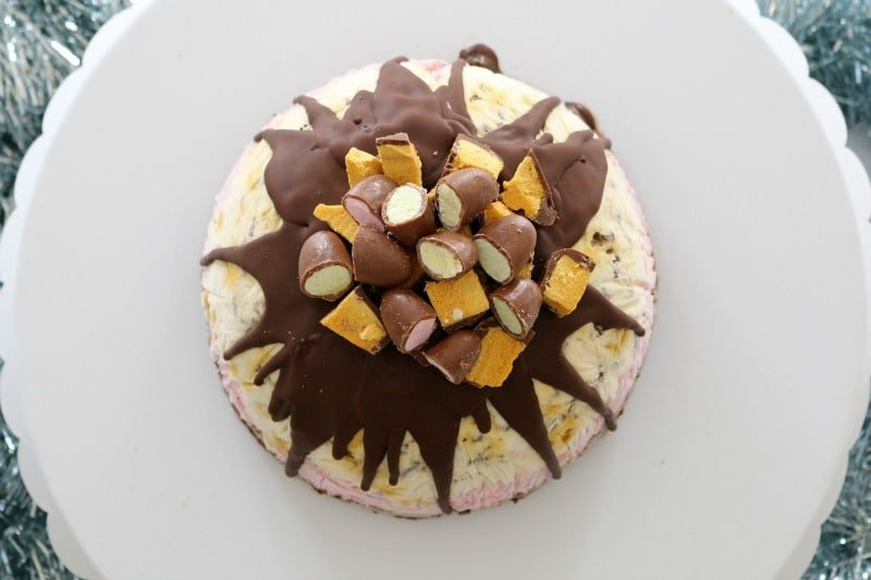 Triple Layer Christmas Ice-Cream Pudding with Choc Honeycomb, Clinkers, Maltesers & More!