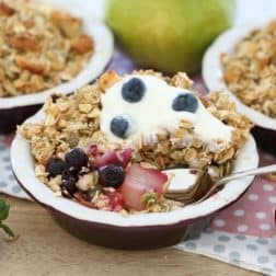 Healthy Pear & Berry Nut Crumbles