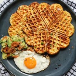 Mash Potato, Parmesan and Chive Waffles