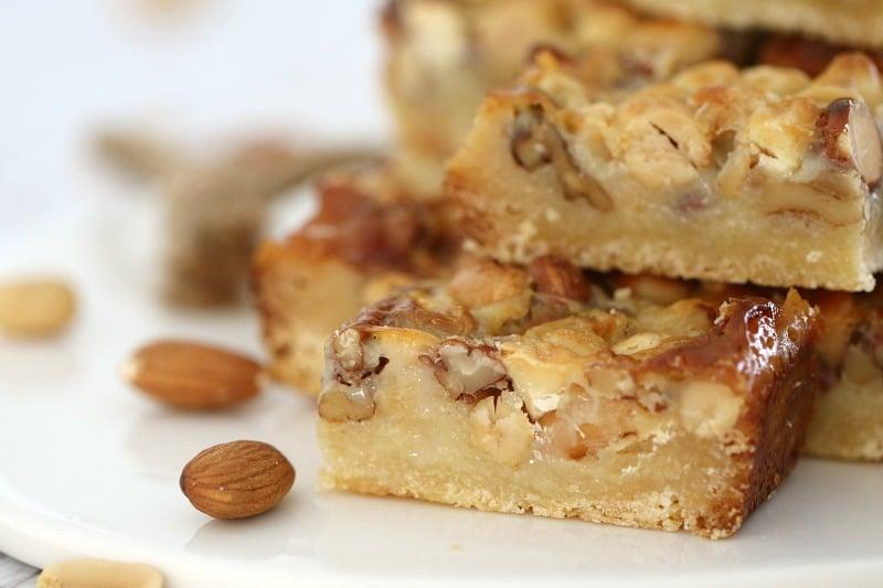 Nut Caramel Slice
