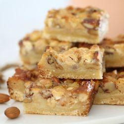 Easy Nut Caramel Slice