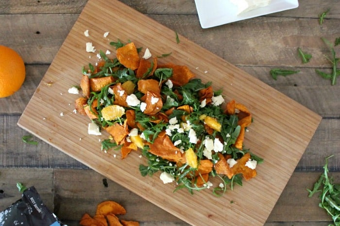 Sweet potato chip salad