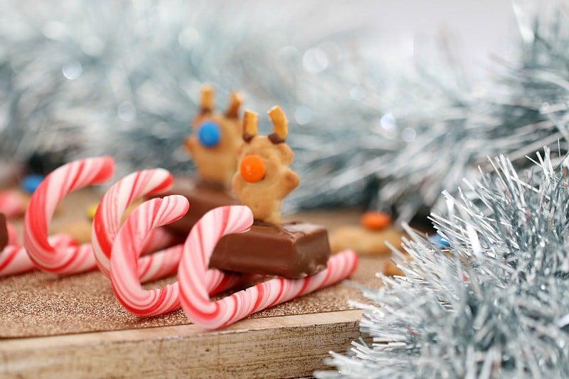 tiny teddy christmas candy cane sleighs - Christmas Candy Sleigh