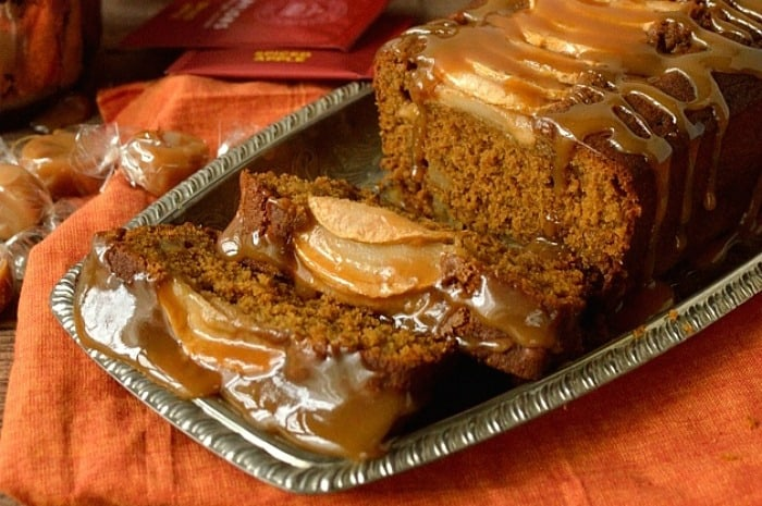 Toffee Apple Gingerbread Loaf