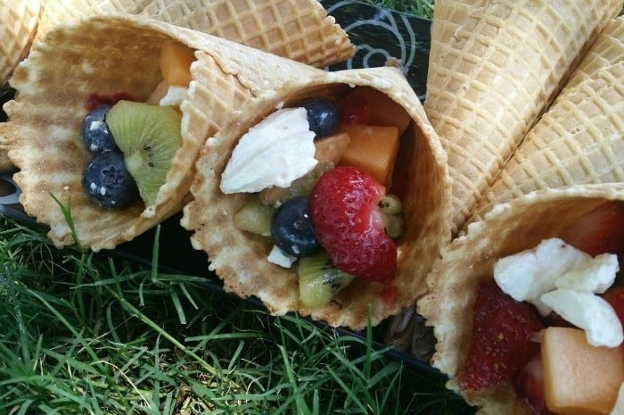 Christmas Waffle Cones