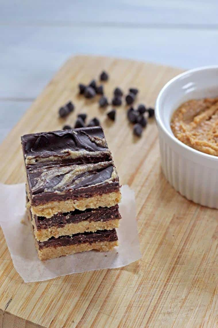No Bake Peanut Butter Cup Slice