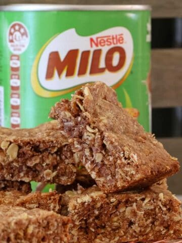 Lunch box recipes don't come any quicker or easier than this yummy Oat & Milo Slice! Simply melt, mix and bake... too simple!! This will become a family favourite in no time!