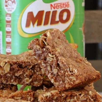 Easy Oat & Milo Slice | Lunch Box Recipe