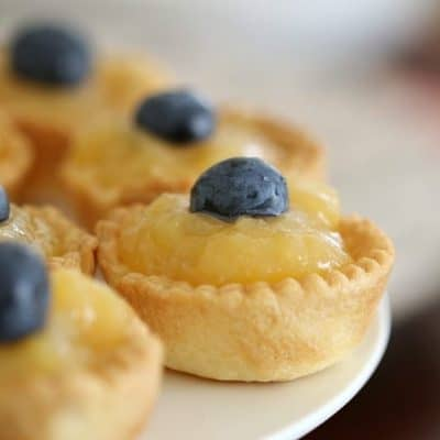 Mini Lemon Curd Tarts (3 Ingredients)